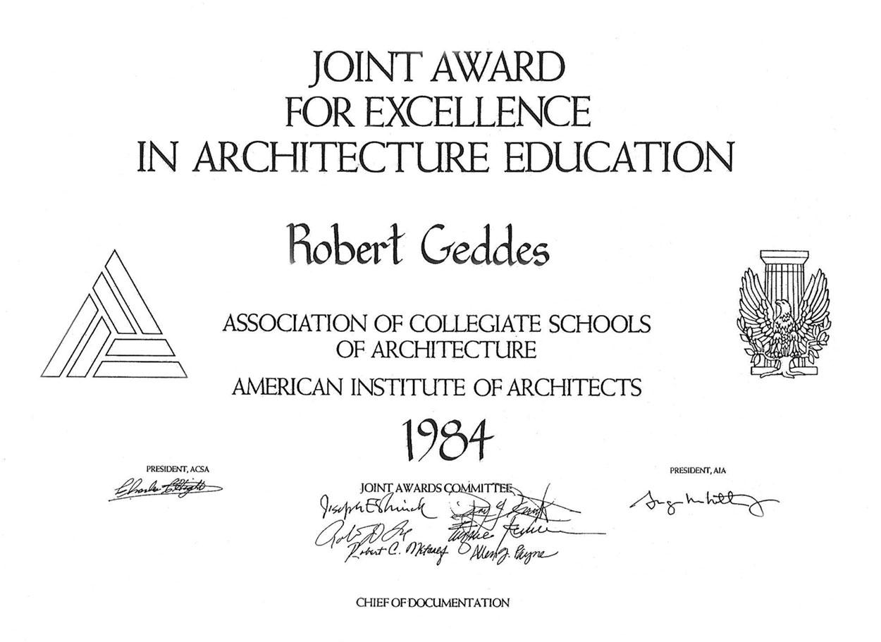 1984 Topaz Award